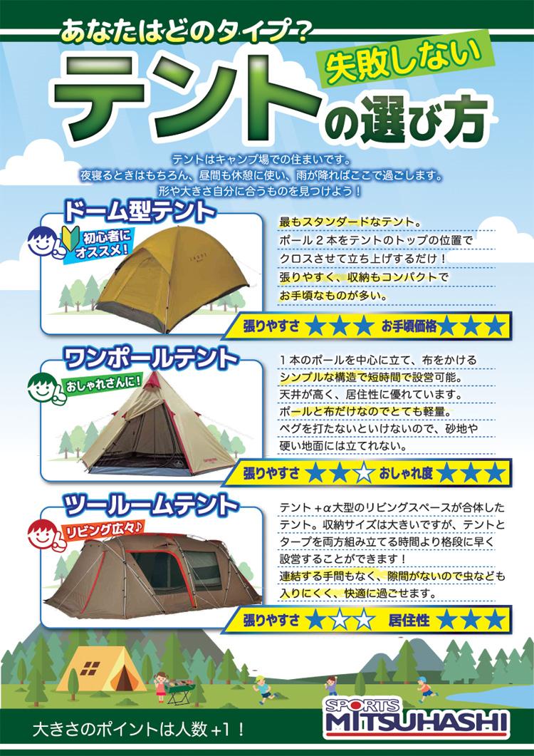 キャンプ・テントの選び方